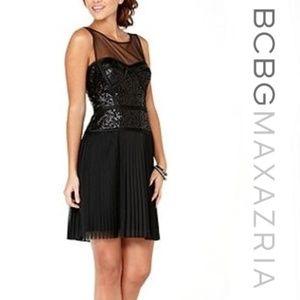 BCBG Maxazria Hazelle Dress Black Sequin 8